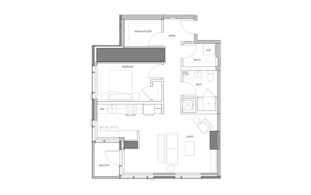 P11 2 1 Bedroom 1 Bath Floorplan